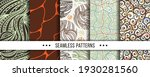 set of abstract seamless... | Shutterstock .eps vector #1930281560