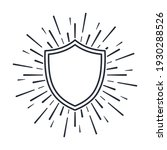 shield in rays and sparks.... | Shutterstock .eps vector #1930288526