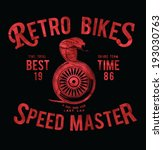 vintage race motorbike and...   Shutterstock .eps vector #193030763