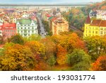 roofs of autumnal prague  view... | Shutterstock . vector #193031774