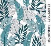 tropical pattern with trendy...   Shutterstock .eps vector #1930320536