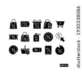 online shop discount icon set.... | Shutterstock .eps vector #1930338086