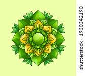 beautiful green floral brooch... | Shutterstock .eps vector #1930342190