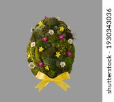 Easter Egg Shape Made Of Green...
