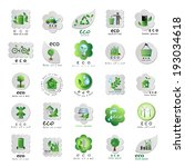 eco icons set   isolated on... | Shutterstock .eps vector #193034618