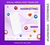 editable social media post... | Shutterstock .eps vector #1930348463