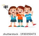 cute little boy and girl take... | Shutterstock .eps vector #1930350473