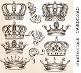 vector set of  crowns for your... | Shutterstock .eps vector #193035260