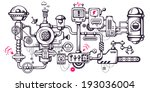 vector industrial illustration... | Shutterstock .eps vector #193036004