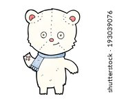 cartoon polar bear waving | Shutterstock . vector #193039076