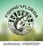 vintage red drum fish emblem on ... | Shutterstock .eps vector #1930392329