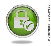 lock pointer icon on white... | Shutterstock . vector #193039580