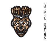 maori or samoan style mask.... | Shutterstock .eps vector #1930423460