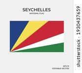 national flag of seychelles ... | Shutterstock .eps vector #1930437659