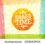 summer time vector sun on paper ...