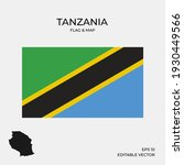 tanzania national map and flag... | Shutterstock .eps vector #1930449566