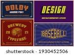 vintage fonts bundle  these... | Shutterstock .eps vector #1930452506