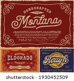 vintage fonts bundle  this set... | Shutterstock .eps vector #1930452509