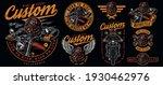vintage motorcycle badges... | Shutterstock .eps vector #1930462976