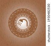shower icon inside wooden... | Shutterstock .eps vector #1930482530