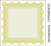 yellow certificate or diploma... | Shutterstock .eps vector #1930482623