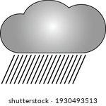 rain illustration for weather... | Shutterstock .eps vector #1930493513