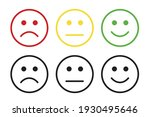 set of face icons with negative ...   Shutterstock .eps vector #1930495646