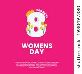 international women's day. 8th... | Shutterstock .eps vector #1930497380