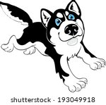 fun husky dog | Shutterstock .eps vector #193049918
