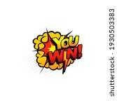 pop art halftone you win comic... | Shutterstock .eps vector #1930503383
