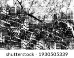 black and white grunge texture. ... | Shutterstock .eps vector #1930505339