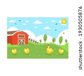 chickens and farm background... | Shutterstock .eps vector #1930505876