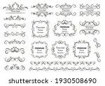 calligraphic design elements .... | Shutterstock .eps vector #1930508690