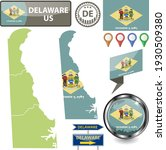 map of delaware state  us with...   Shutterstock .eps vector #1930509380