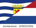 zeeland and netherlands flags.... | Shutterstock .eps vector #1930515356