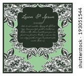 wedding invitation cards with... | Shutterstock . vector #193051544