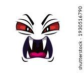 monster face isolated vector... | Shutterstock .eps vector #1930516790