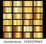 metallic gold gradients golden... | Shutterstock .eps vector #1930529969