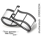 vector illustration film strip | Shutterstock .eps vector #193053254
