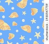 sea pattern. seashell pattern....   Shutterstock .eps vector #1930547759