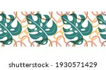 hand drawn tropical seamless...   Shutterstock .eps vector #1930571429