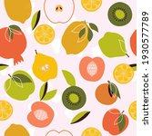 exotic bright fruits seamless...   Shutterstock .eps vector #1930577789