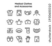 collection of icons of medical...