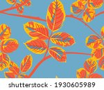 painted english rose leaf...   Shutterstock .eps vector #1930605989
