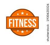 fitness icon label sticker... | Shutterstock .eps vector #1930620326