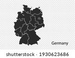 germany map vector  black color....   Shutterstock .eps vector #1930623686