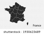 france map vector  black color. ...   Shutterstock .eps vector #1930623689
