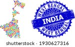 West Bengal State Map Template. ...