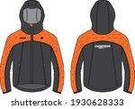 long sleeve hoodie jacket... | Shutterstock .eps vector #1930628333