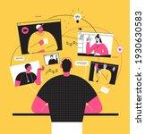 vector illustration  work from... | Shutterstock .eps vector #1930630583
